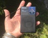 Vintage Japanese National AM high sensivity receiver model R-1007 works