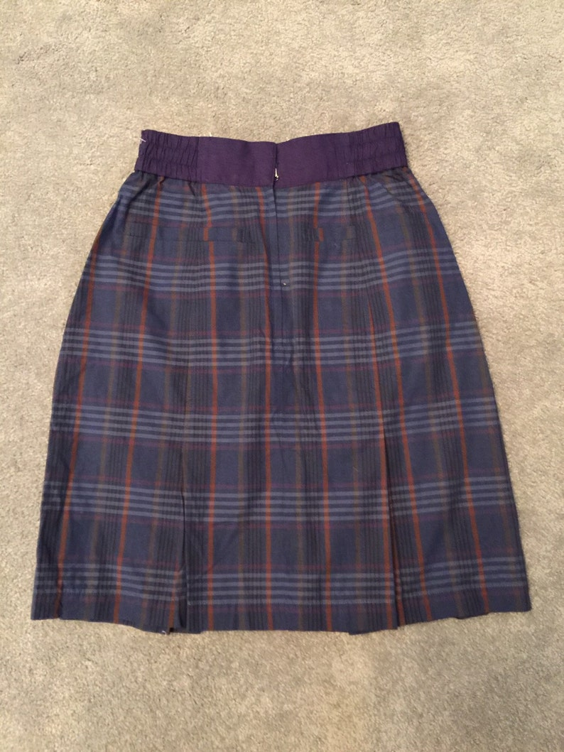 8b7581a4f9fd Vintage designer Christian Dior Sports lined plaid skirt size