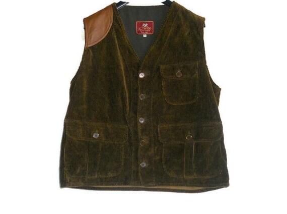 Hunter's velvet vest vintage Italy  green army vel