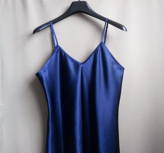 satin slip dress XL silk underwear top Vintage wo… - image 2