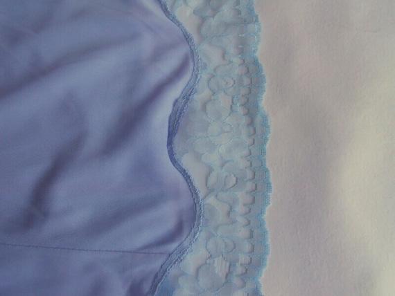 Blue lavender lace petticoat L size Top slip ling… - image 5
