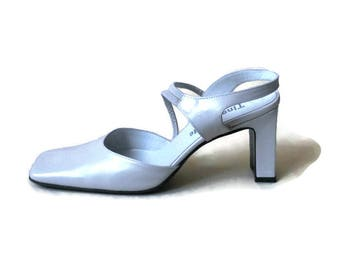 Wedding Italian White shoes for women Vintage White leather women shoes