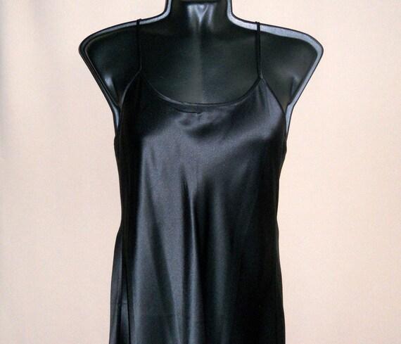Silk underwear organic black silk Vintage women's