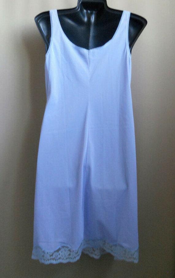 Blue lavender lace petticoat L size Top slip ling… - image 3