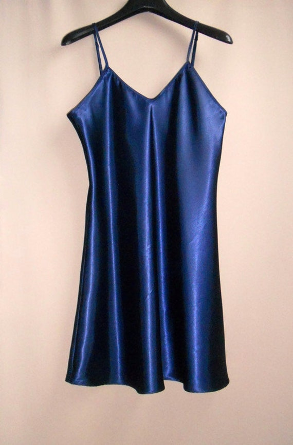 satin slip dress XL silk underwear top Vintage wo… - image 4