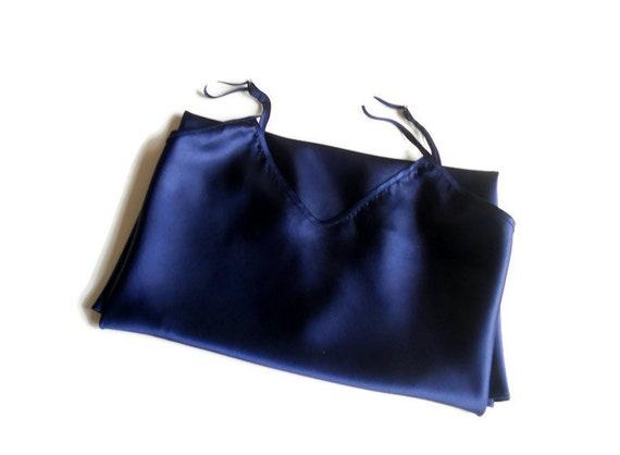 satin slip dress XL silk underwear top Vintage wo… - image 1