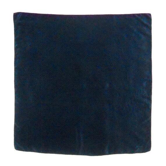 Foulard en soie carré bleu Etole en soie vintage à pois   Etsy ac62bf38852