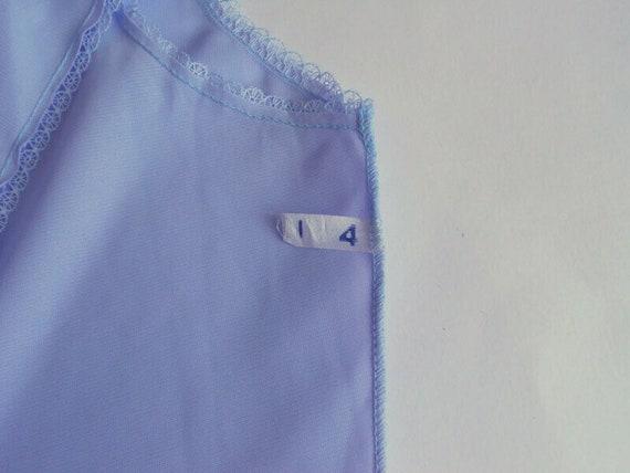 Blue lavender lace petticoat L size Top slip ling… - image 7