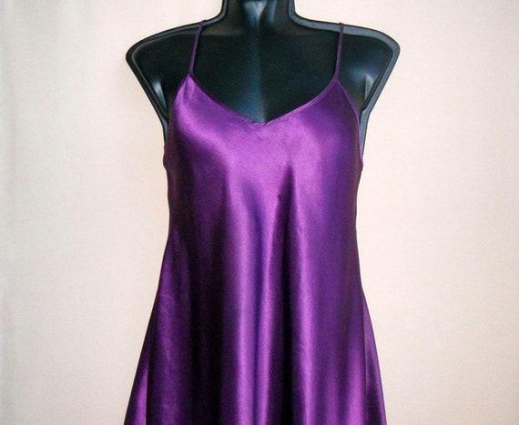 satin silk slip dress XL silk underwear top Vintag