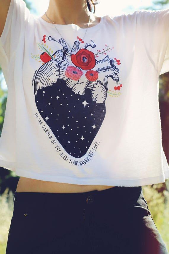 Herz-Anatomie-Shirt Yoga Ernte oben Muster Ernte oben coole