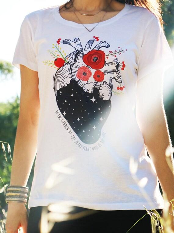 Camiseta de la anatomía corazón humano camisa mujer camisa | Etsy
