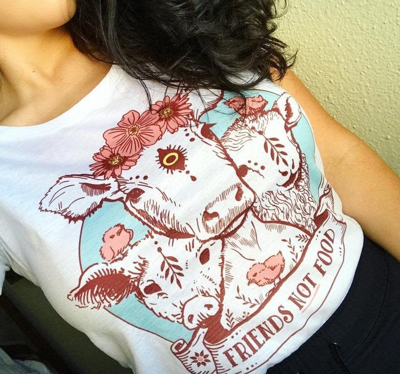 vegan shirt friends not food shirt vegan presents image 0