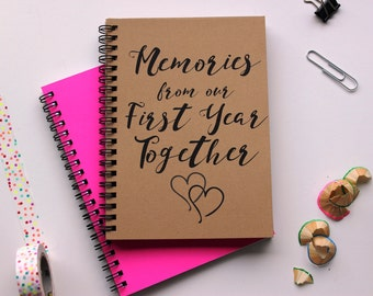 Memories from our First Year Together -  5 x 7 journal