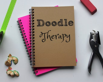 Doodle Therapy - 5 x 7 journal