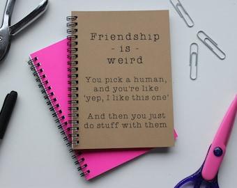 Friendship is weird... - 5 x 7 journal