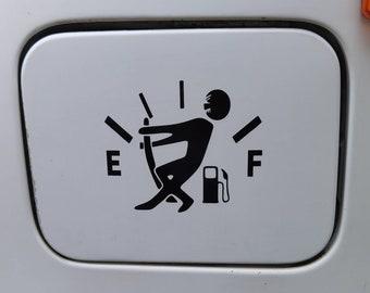 Sticker for fuel cap black or white