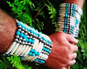 Hairpipes cuff in Native American style. Custom-made products in our own workshop