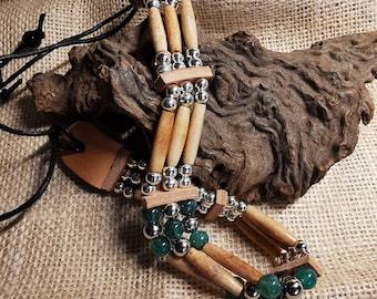 Indian Choker, Indian Jewelry, Dragon Agate Beads (CH 30)