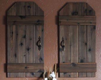 Rustic Barn Doors, Mini Barn Doors, Shutter Wall Decor, Rustic Wall Decor,  Rustic Shutters, Farmhouse Decor, Barn Door, Wooden Shutters