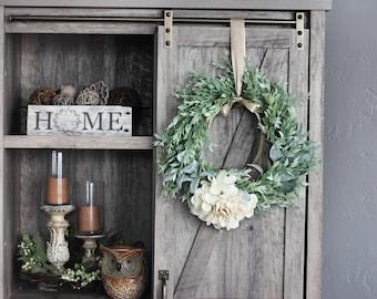 "Farmhouse Style Artificial Locust 16/"" Wreath"