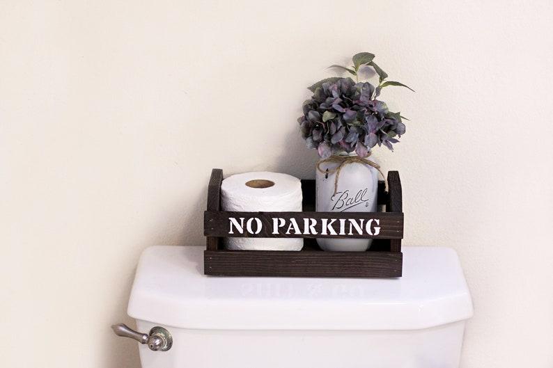 Farmhouse Bathroom Decor Toilet Paper Holder Funny Bathroom Etsy