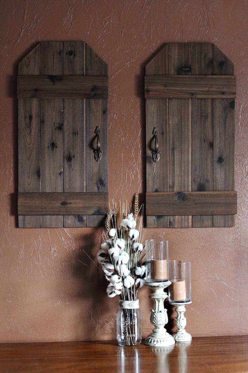 Indoor Shutter Wall Decor Rustic Barn Doors Mini Barn