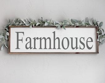 Farmhouse Wood Sign, Farmhouse Framed Sign, Living Room Wall Decor, Farmhouse Wall Decor, Framed Wood Signs, Large Farmhouse Wood Sign