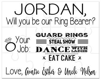 Ring Bearer Proposal, Will You Be Our Ring Bearer, Gift for Ring Bearer, Personalized Puzzle, Alternative Gift for Ring Security, Ring Dude