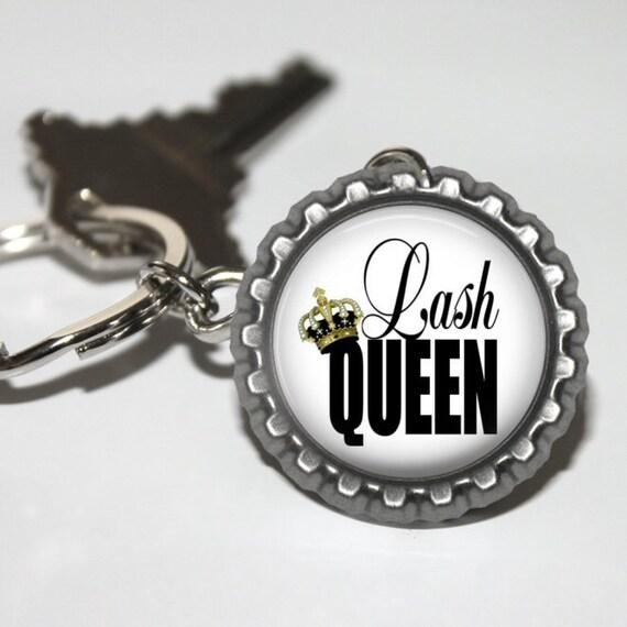 Lash Queen porte-clé, Direct cadeau vente, Marketing, Incentive, publicité, Swag cils, Mascara Consultant, distributeur, cils, cadeau de l'équipe