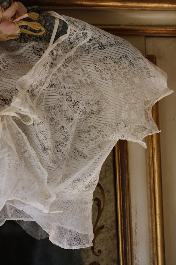 Divine Antique lace cami, corset cover, crop top,… - image 2