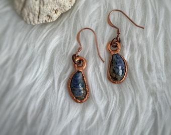 Mussel Shell Earrings, Copper Electroformed, Beachcomber Jewelry, Mermaid Jewelry, Alaskan Gift, Nature Jewelry, Made in Alaska