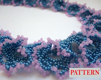 Beaded necklace pattern Beadweaving tutorial beading pattern beadwork instructions pattern PDF Instant Download Scheme Beadwoven seed bead