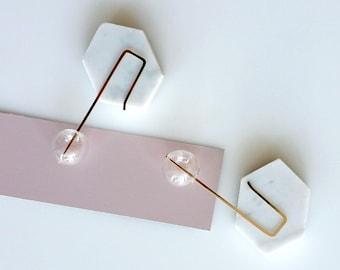 SMALL BUBBLES EARRINGS | hand blown glass, long earrings, beads earrings, glass earrings, clear, gold earrings, minimalist, modern jewelry |