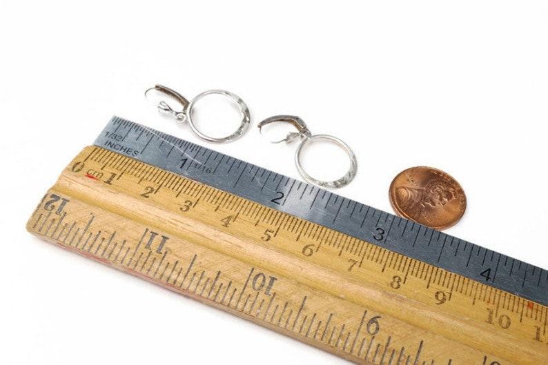Dainty Minimalist Boho Jewelry Vintage Sterling Silver Small Hoop Earrings Signed BOND BOYD 925 Dangle Hoops for Pierced Ears
