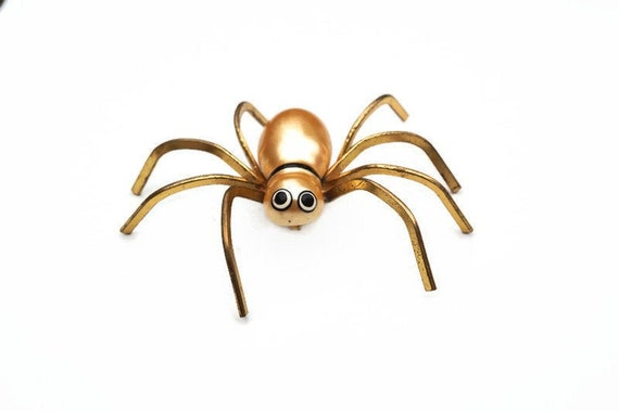 Large Vintage Spider Brooch with Pearlised Body an