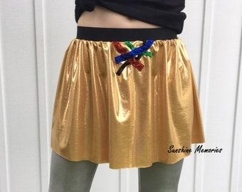 Golden Robot Running Skirt