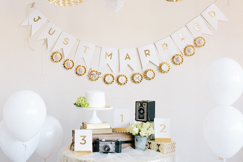 12 Mini Glam Gold Foil Rosette Banner Paper Party Fans White Wedding Baby Shower Pinwheel Backdrop Birthday Anniversary 4 Inch Fans