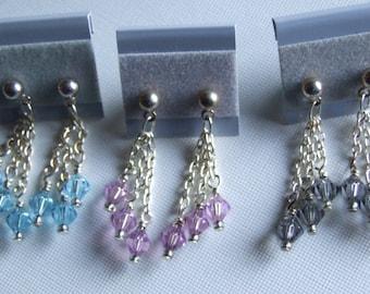 Swarovsky crystal and chain earrings 0682EA