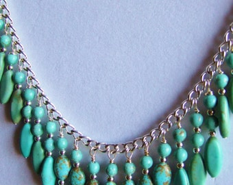 turquoise  statement necklace 0285NK