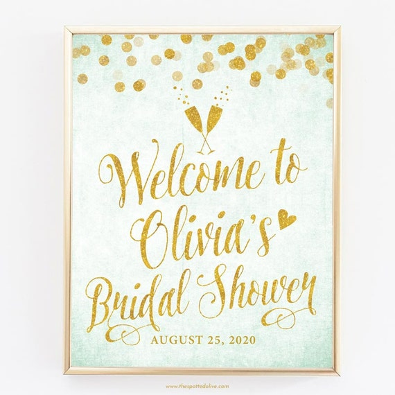 It's just a picture of Printable Bridal Shower Signs in emblem