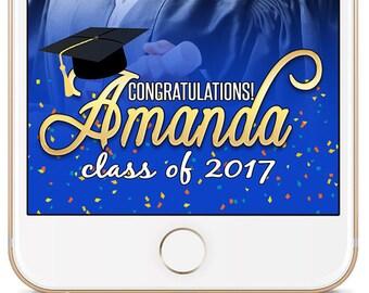 Graduation Snapchat Geofilter, Class of 2017 Snapchat, Geofilter for Graduation