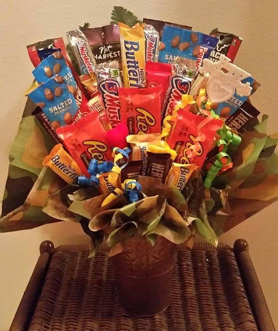 Reese S Happy Valentine S Day Candy Bouquet Nuts Jerky Etsy