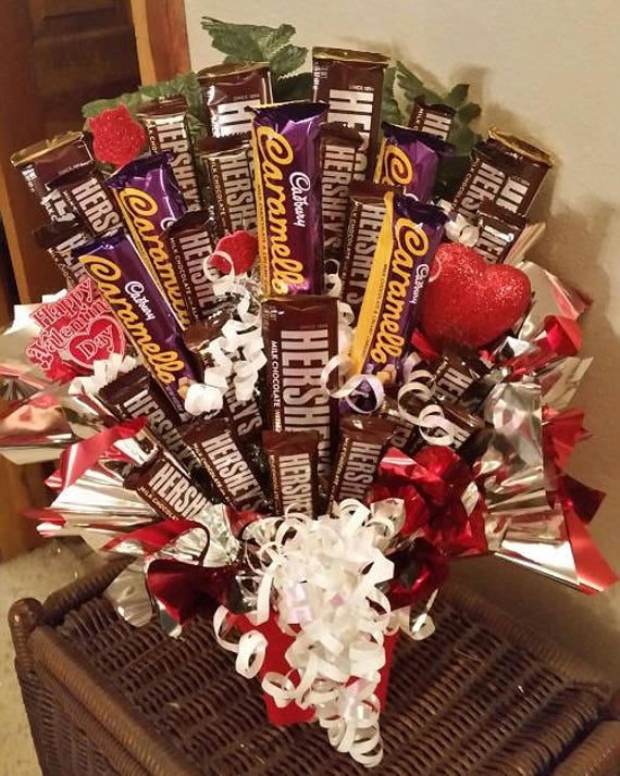 Carmello Candy Bouquet Chocolate Caramel Candy Bouquet Happy Etsy