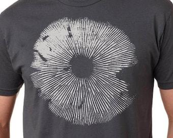 Mushroom shirt- Mycology shirt - Psilocybe Spore Print mushroom T shirt