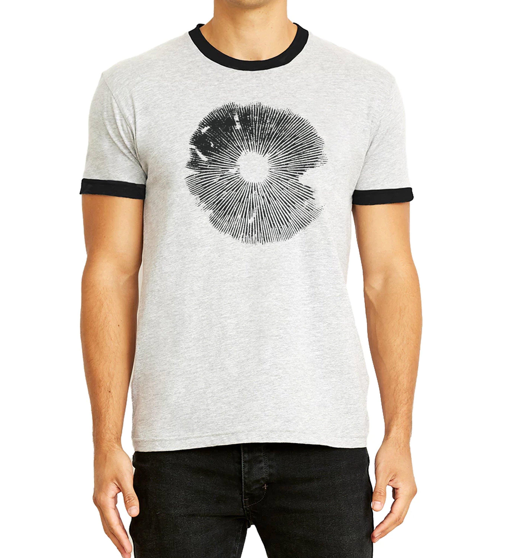 Psilocybe Spore Print Mushroom Ringer Tee Mycology Shirt Etsy