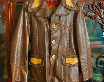 SM 1990s Char Leather Jacket