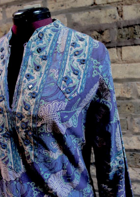 RESERVED70s Ramona Rull Ethnic India Maxi Caftan … - image 2