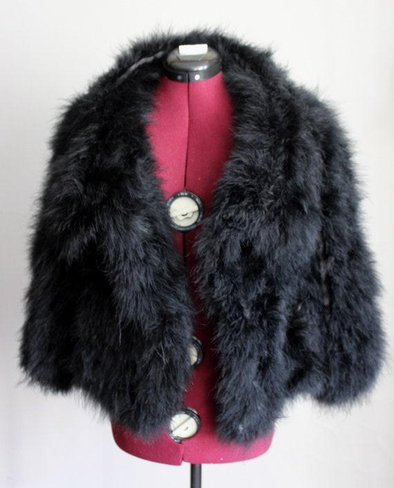 Black Marabou Feather Jacket Coat