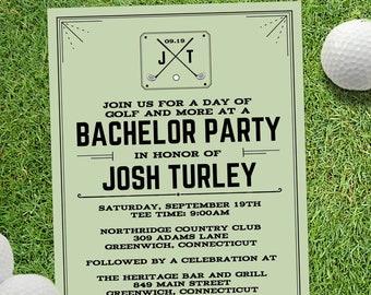 golf invitation etsy