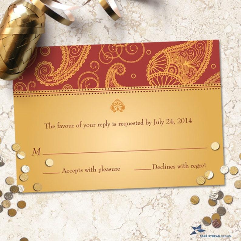 Exotic Paisley Indian Frame Wedding Stationery Set